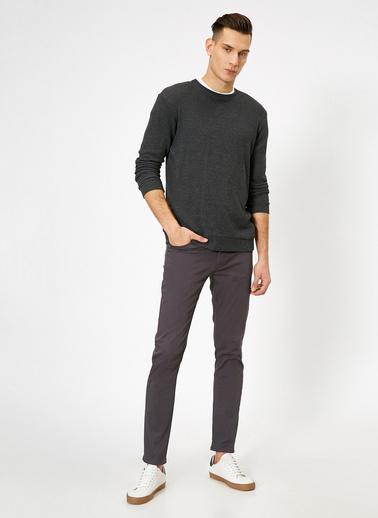 Koton Cep Detaylı Slim Fit Pantolon Gri